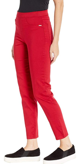 Pull-On Ankle - D-Lux Denim-red-side
