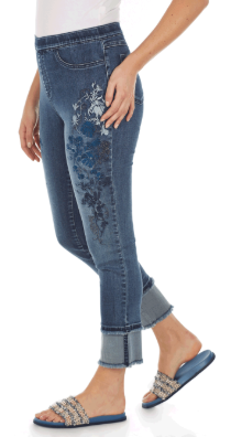 Pull-On Ankle - Statement Denim-bluedenim-side