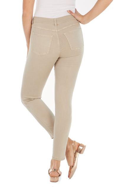 Olivia Slim Ankle - Solid Cool Twill-sand-back