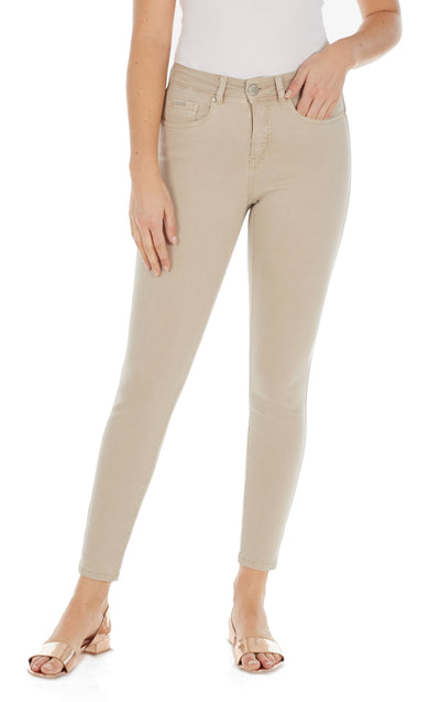 Olivia Slim Ankle - Solid Cool Twill-sand-front