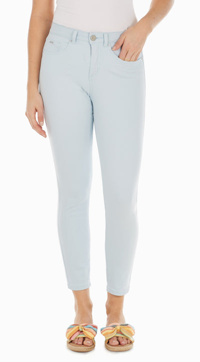 Olivia Slim Ankle - Solid Cool Twill-sky-front