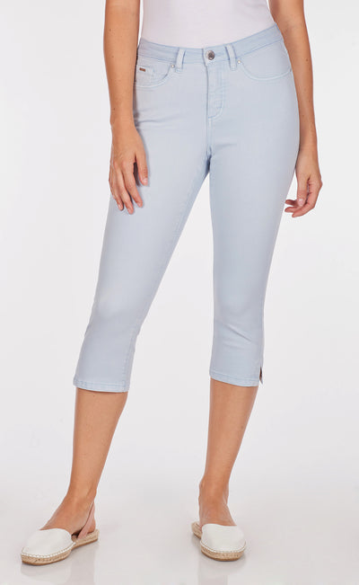 Olivia Capri - Solid Cool Twill-sky-front