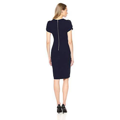 Tulip Sleeved Sheath Dress