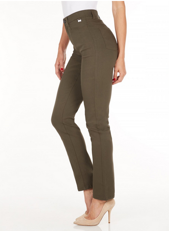 Suzanne Straight Leg - Technoslim Olive Side
