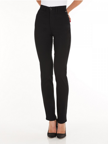 Suzanne Straight Leg - Technoslim Black Front