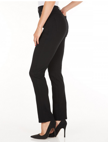 Suzanne Straight Leg - Technoslim Black Side