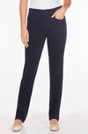 Plush Cord Suzanne Straight Leg-navy-front