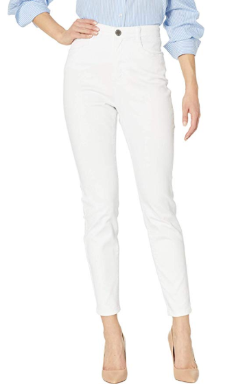 Suzanne Slim Ankle - Soft Hues Denim-white-front