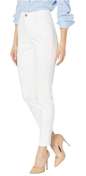 Suzanne Slim Ankle - Soft Hues Denim-white-side