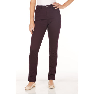 Suzanne Straight Leg - Sunset Hues-plum-front