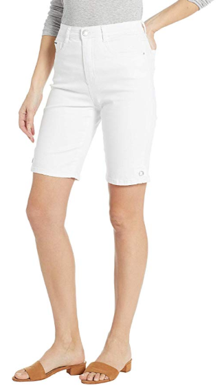 Suzanne Bermuda - Soft Hues Denim-white-side