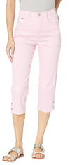 Suzanne Capri - Soft Hues Denim-pink-front