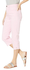 Suzanne Capri - Soft Hues Denim-pink-side