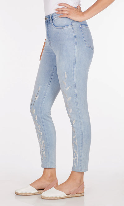 Suzanne Slim Ankle - Statement Denim-coolblue-side