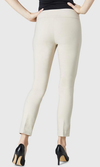 "Solid Magical Lycra 28"" Ankle Pant-beige-back"