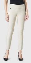 "Solid Magical Lycra 28"" Ankle Pant-beige-front"