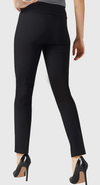 "Solid Magical Lycra 28"" Ankle Pant-black-back"