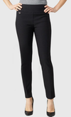 "Solid Magical Lycra 28"" Ankle Pant-black-front"