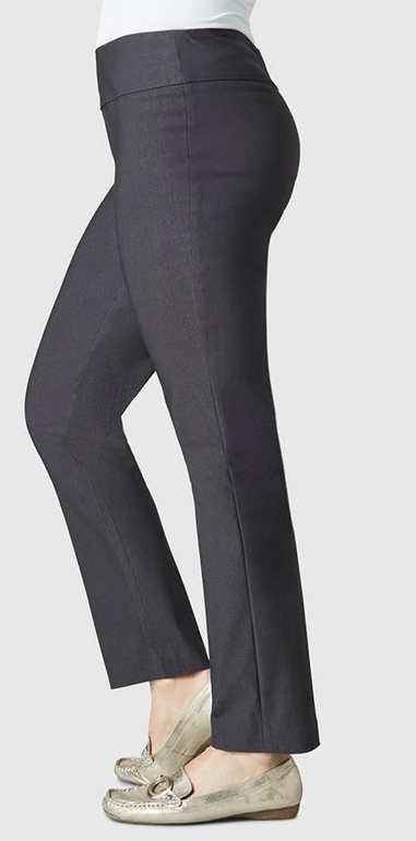 "Solid Magical Lycra 28"" Ankle Pant-dark slate-side"
