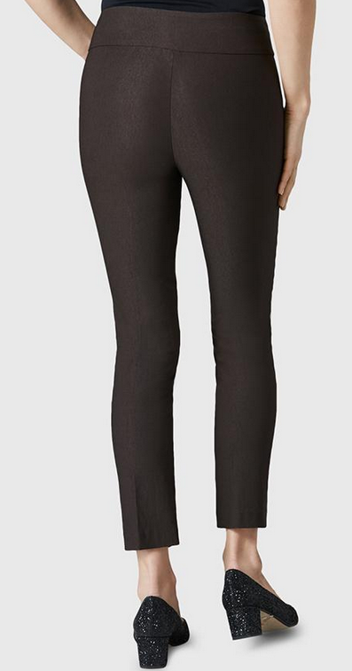 "Solid Magical Lycra 28"" Ankle Pant-espresso-back"