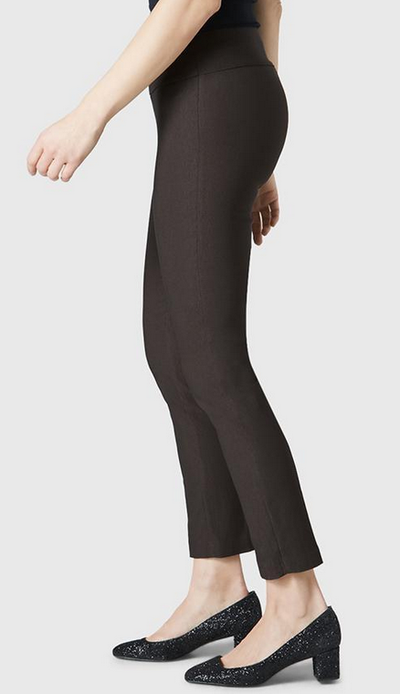 "Solid Magical Lycra 28"" Ankle Pant-espresso-side"