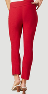 "Solid Magical Lycra 28"" Ankle Pant-red-back"