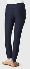 "Solid Magical Lycra 28"" Ankle Pant-navy-back"