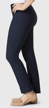 "Solid Magical Lycra 28"" Ankle Pant-navy-side"