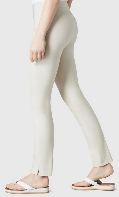 "Solid Magical Lycra 31"" Slim Pant-beige-side"