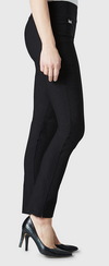 "Solid Magical Lycra 31"" Slim Pant-black-side"