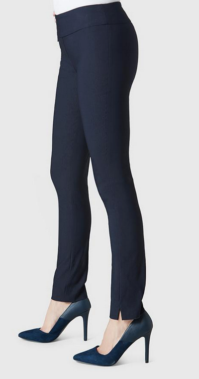 "Solid Magical Lycra 31"" Slim Pant-navy-side"