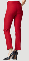 "Solid Magical Lycra 31"" Slim Pant-red-back"
