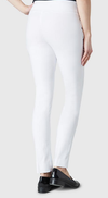 "Solid Magical Lycra 31"" Slim Pant-white-back"