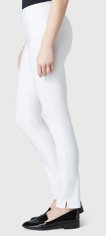 "Solid Magical Lycra 31"" Slim Pant-white-side"