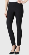 "Solid Magical Lycra 31"" Slim Pant_Black_Front"