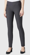 "Solid Magical Lycra 31"" Slim Pant_Dark Slate_Front"