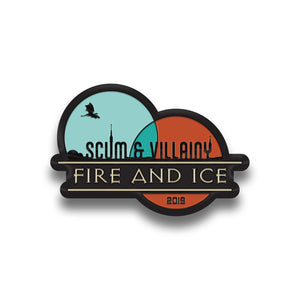 Fire & Ice Enamel Pin