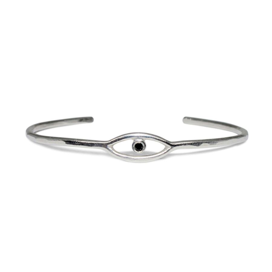 Cosmic Eye Cuff | Silver + Diamond