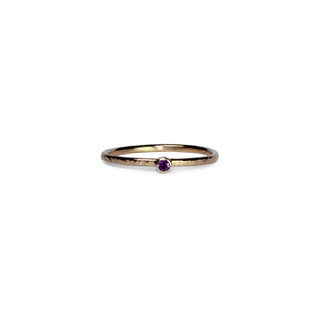 Birthstone Talisman Ring ~ February ~ Amethyst