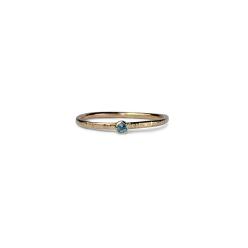 Birthstone Talisman Ring ~ March ~ Aquamarine