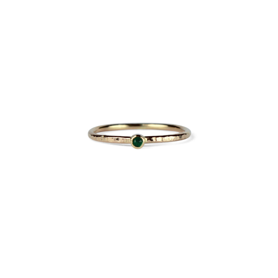 Birthstone Talisman Ring ~ May ~ Emerald