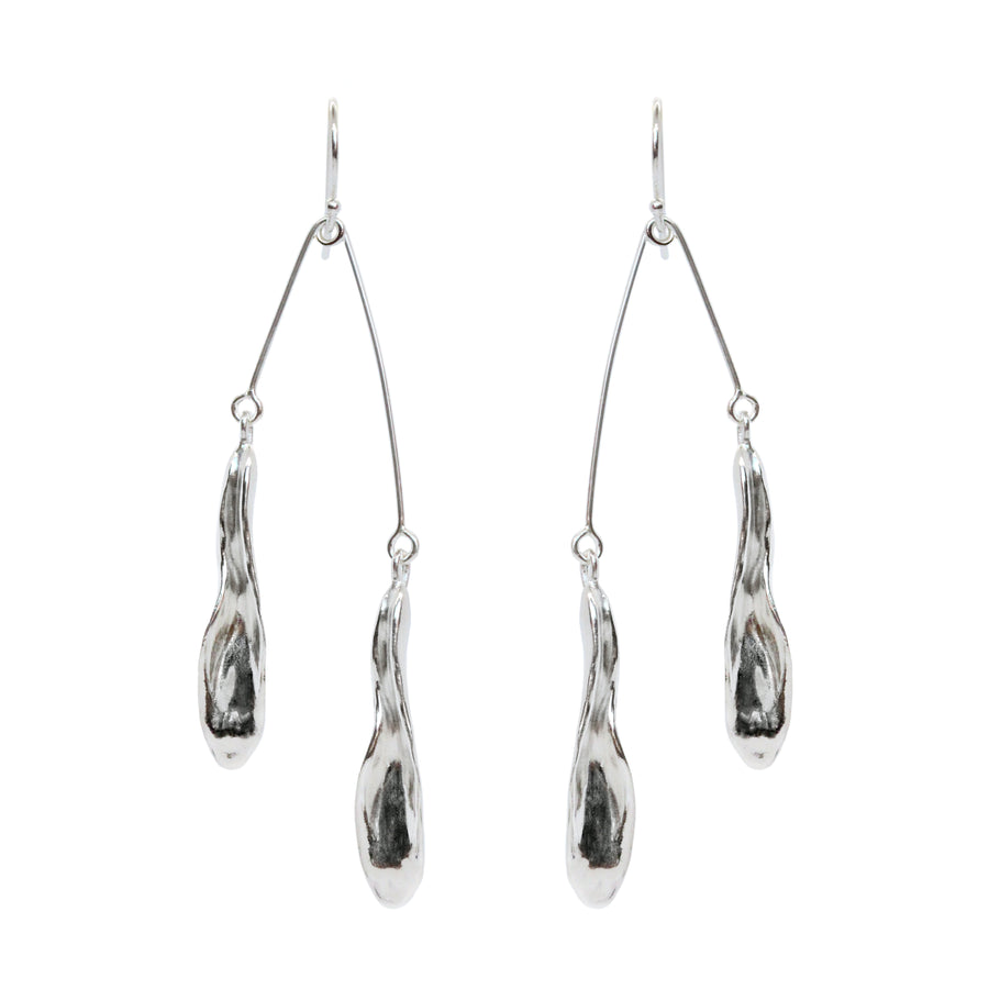 Flora Mobile Earrings | Silver
