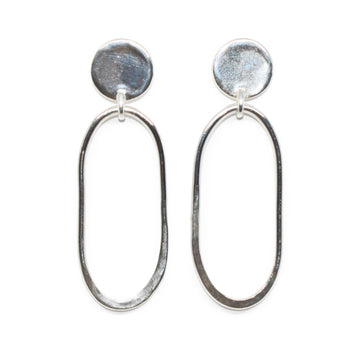 Georgia Earrings | Silver