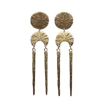 Oracle Earrings | Bronze