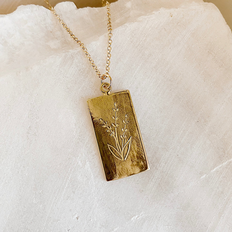 Lavender Tarot Necklace
