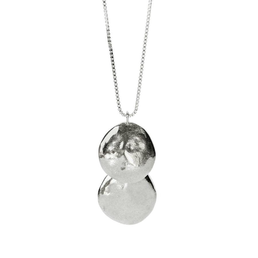 Terra Drop Necklace | Silver