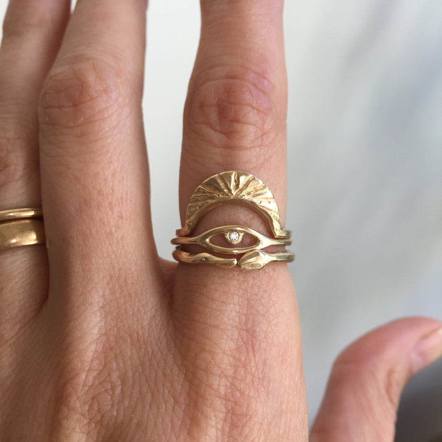 Cosmic Eye Ring | Gold + White Diamond