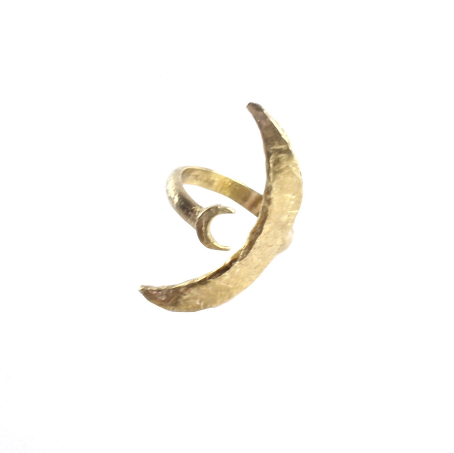 Two Moon Ring | Bronze