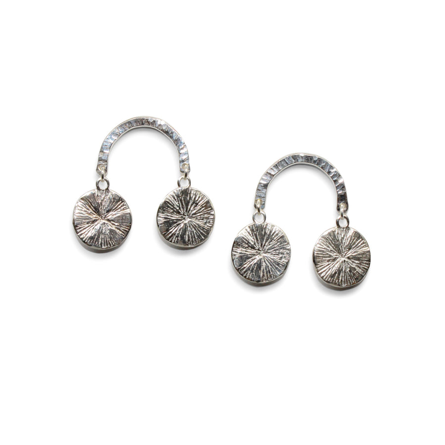 Fountain Earrings | Silver
