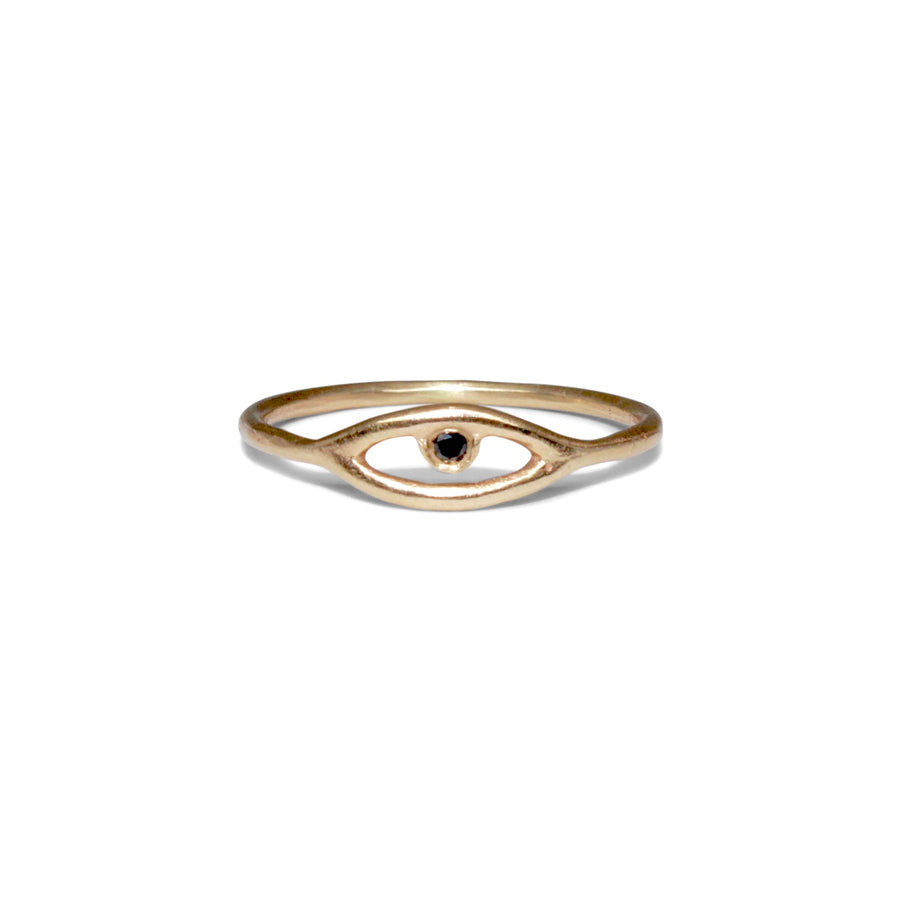 Cosmic Eye Ring | Gold + Black Diamond